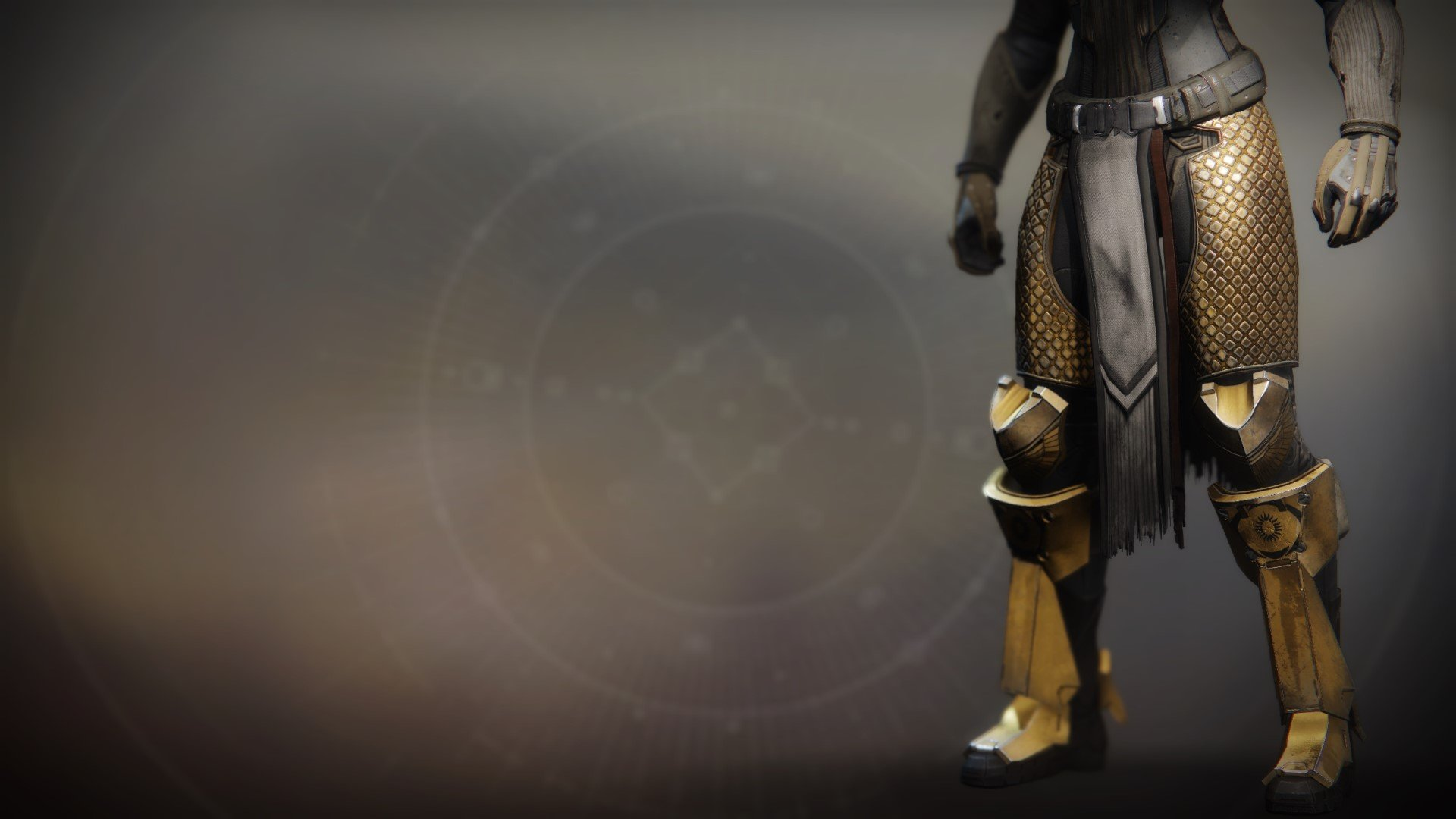 An in-game render of the Greaves of the Exile.