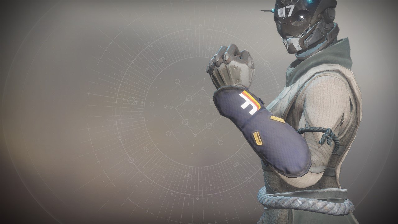 An in-game render of the Simulator Gloves.