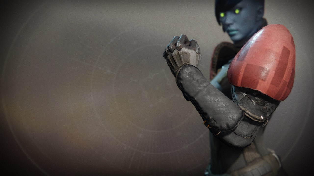An in-game render of the Exodus Down Gauntlets.
