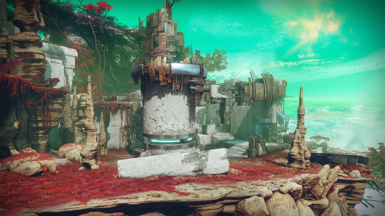 An in-game render of the Distant Shore.