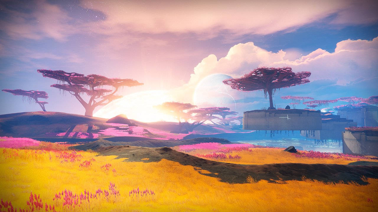 An in-game render of the Nightfall: A Garden World.