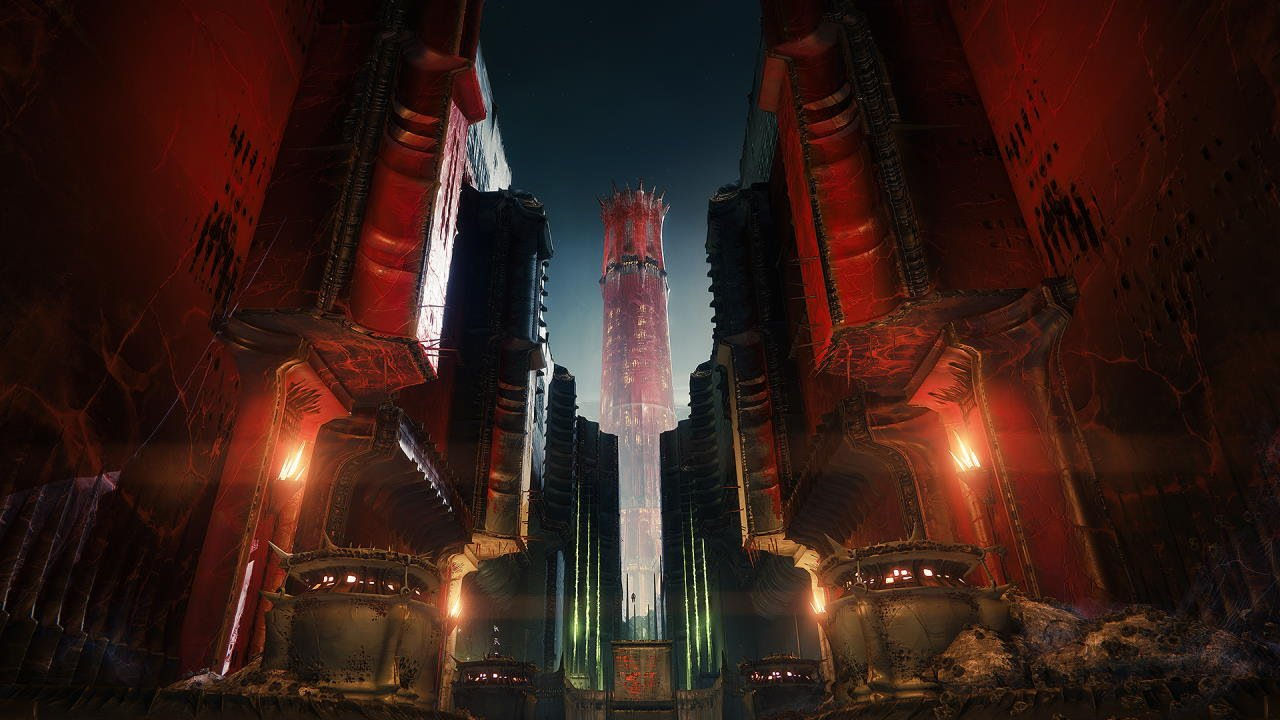 An in-game render of the Nightfall: The Scarlet Keep.